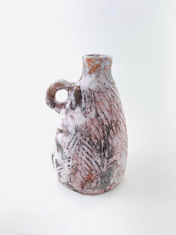 bouteille texturée en céramique